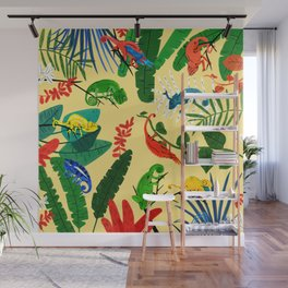Nine Chameleons Hiding in the Tropics Wall Mural