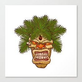 illustration of a tiki totem. Canvas Print