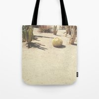 cacti Tote Bags featuring Cacti by Amber Barkley