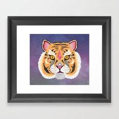 Space Tiger Framed Art Print