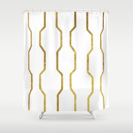 Gold Chain Shower Curtain