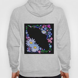 Abstract flowers frame Hoody