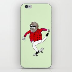 On how to overcome certain obstacles while skateboarding iPhone Skin