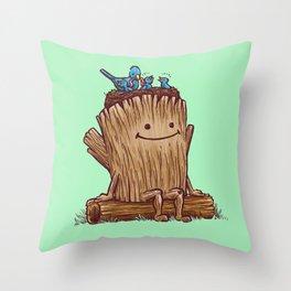 Good Day Log's Bird Nest Throw Pillow