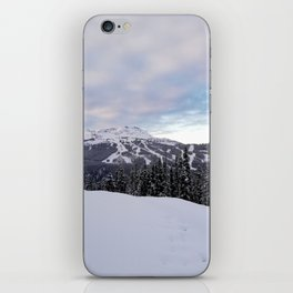 Mountains behind the trees iPhone Skin
