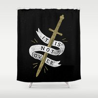 gryffindor Shower Curtains featuring It Is Not Over by WEAREYAWN