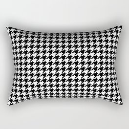 Monochrome Black & White Houndstooth Rectangular Pillow
