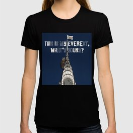 This Is MY Everest, What's Yours? (Raccoon Climbs Skyscraper) T-shirt