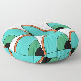 Abstraction_RETRO_RAINBOW_POP_ART_Minimalism Floor Pillow
