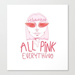 All Pink Canvas Print