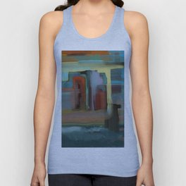 Abstract City, Southwestern Colors Unisex Tank Top
