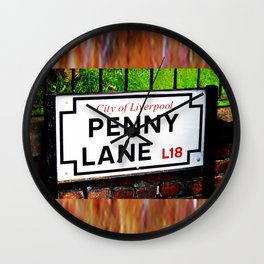 liverpool England famous penny Lane sign Wall Clock