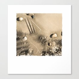 art in the sand 3 Canvas Print