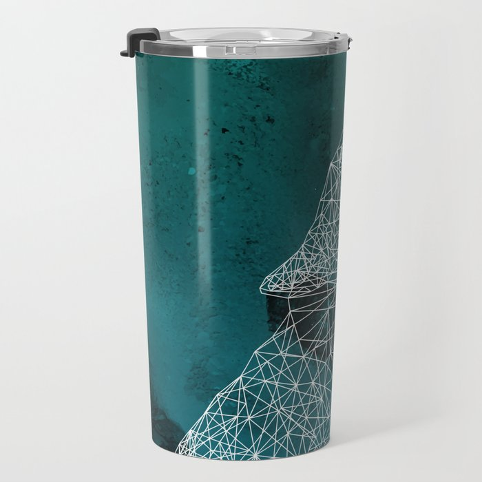 Midnight Wolfie II Travel Mug