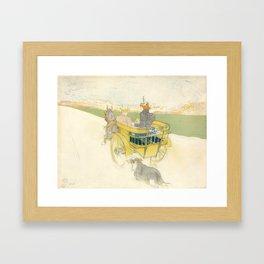 """Henri de Toulouse-Lautrec """"Partie de Campagne"""" Framed Art Print"""