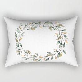 Wattle Wreath Rectangular Pillow
