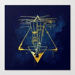 Midnight Bath - Blue/Gold pallette Canvas Print