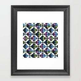 Retro Box Star Pattern Small Framed Art Print