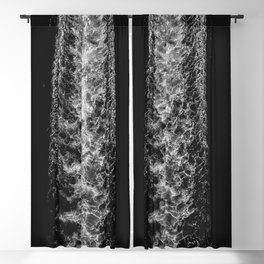 Ocean Patterns | Black and White | Boat Wake  Blackout Curtain