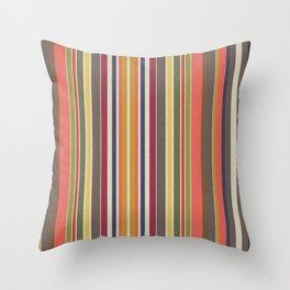 Warm Harmony Stripes Throw Pillow