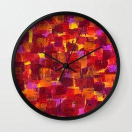 Freckeld Crimson Wall Clock