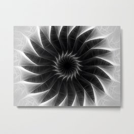Gray Kaleidoscope Art 5 Metal Print