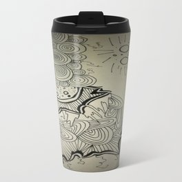 Ink Doodle Sprial Design Travel Mug