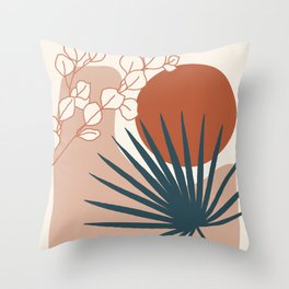 Tropical Sense Terra Throw Pillow