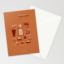 Doctor Who |Aliens & Villains (alternate version) Stationery Cards