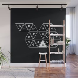 Unrolled D20 #2 Wall Mural