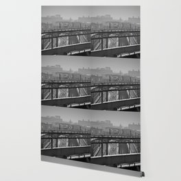 Tales of a Subway Train in Black and White Wallpaper
