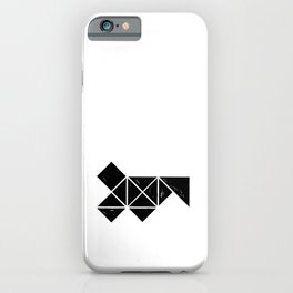 Hand Made Squares, Triangles with Ink on Paper iPhone Case