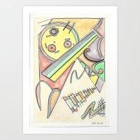 kandinsky Art Prints featuring Kandinsky Re-imagined (2014) by Eli Dorman