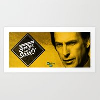 better call saul Art Prints featuring Saul Goodman - Better Call Saul extremely Mug  by Pablo Napo