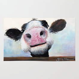 Nosey Cow ' HEY! HOW'S IT GOIN'? ' by Shirley MacArthur Rug