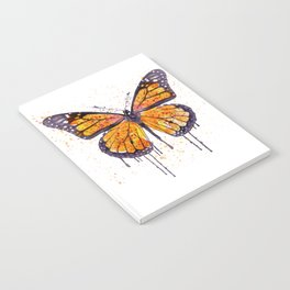 Monarch Butterfly watercolor Notebook