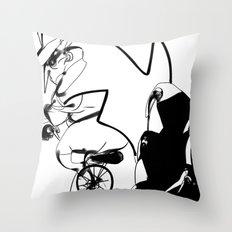 penguin posse Throw Pillow