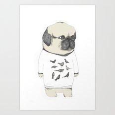 kinotto pug Art Print