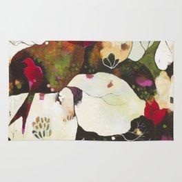 """Witnessing Skies of Birds"" Original Painting by Flora Bowley Rug"