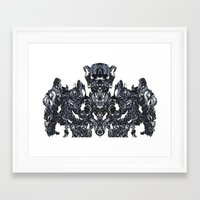 transformer Framed Art Prints featuring Transformer Abstract by Carly And.