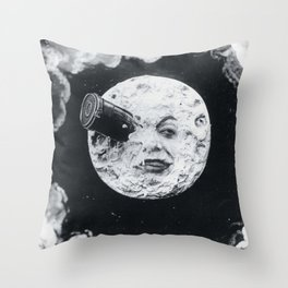 A Trip To The Moon Film Georges Méliès Throw Pillow