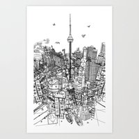 Toronto! (version #2) Art Print