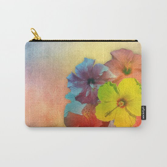 Colorful Hibiscus Bouquet Carry-All Pouch