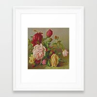 vintage flowers Framed Art Prints featuring Vintage Flowers by Lucia