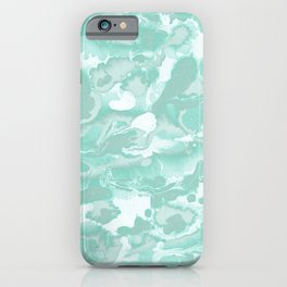 Watercolor - Soft Green Blue iPhone Case