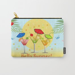 Hello Summer, vector illustration with text Carry-All Pouch