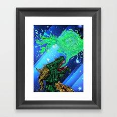 green dragon fire artist Framed Art Print