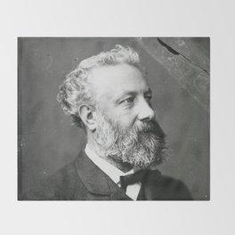 portrait of Jules Verne by Nadar Throw Blanket