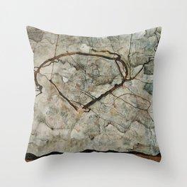 Egon Schiele-Autumn Tree in Stirred Air (Winter Tree) Throw Pillow