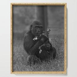 Cheeky Gorilla Lope Mono Serving Tray
